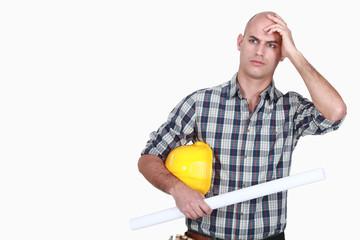 An angry tradesman