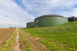 Biogasanalge auf dem Land