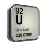 3d Periodic Table - 92 Uranium