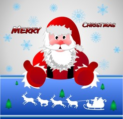 Santa Claus, Father Frost, background