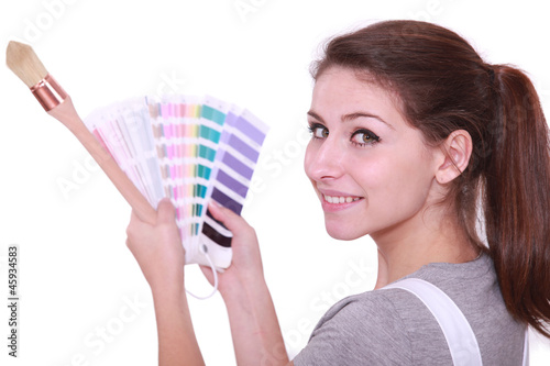Painter with swatches