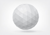 Fototapety Spherical shape from triangles