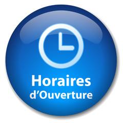"""Bouton """"HORAIRES D'OUVERTURE"""" (contact service clients accueil)"""