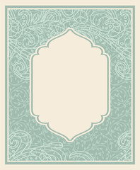 Vector vintage frame with floral pattern