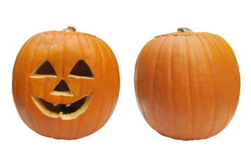 Isolated Halloween Pumpkins