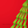 Christmas Card, Merry Christmas, ribbons, red, green