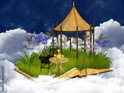 dreamy reading place in the sky