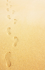 footprints in the sand background