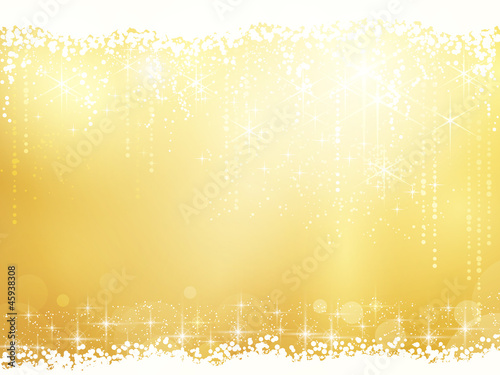 Abstract background with stars, snowfall and light effects