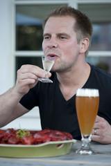 Enjoying a schnapps