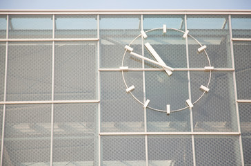 U1/U2-Wien Nord-Praterstern with clock in Vienna, Austria