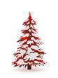 Tannenbaum, Winter, verschneit, Weihnachtsbaum, Schnee, Rot