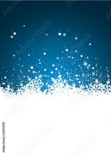 Weihnachten, Designvorlage, Vorlage, Schnee, verschneit, Blau