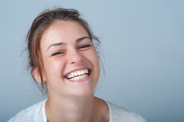 young woman with a beautiful smile