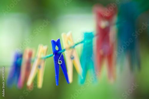 Wäscheklammer blau