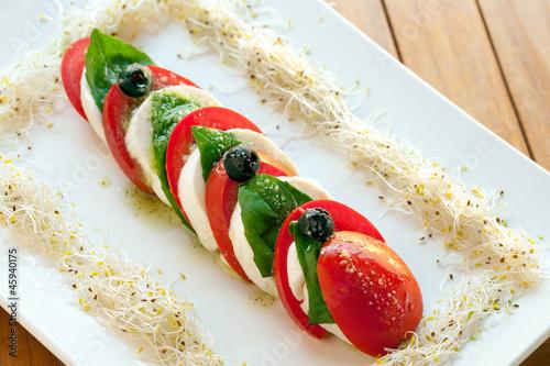 Italian caprese salad.
