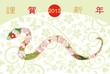 花蛇/2013年年賀状/花模様