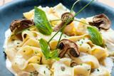 Italian taggliatelle with funghi porcini.