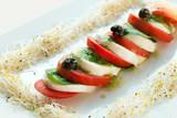 Mozzarella and tomato salad.