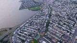 Aerial view of New York city  suburbs of New Jersey, USA