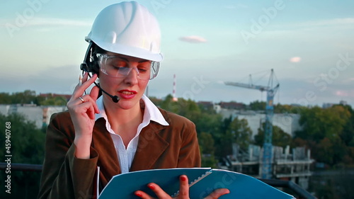 Female construction engineer