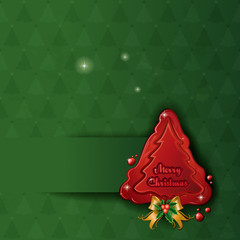 Christmas tree wax green background