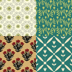 Collection of various seamless patterns