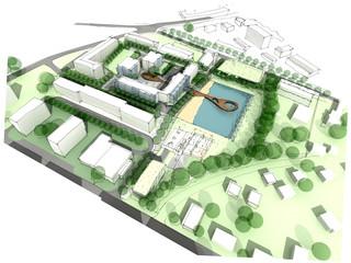 Illustration of an idea of urban design sketch