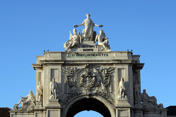 Detail of the arch at Augusta Street at Lisbon