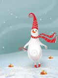 New year. Christmas. Jolly Snowman. _congratulation_