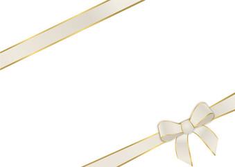 Geschenkband in beige