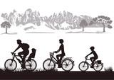 Fototapety Radfahrende Familie