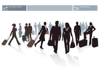 Flughafen Passagiere