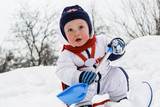 Winter portrait of young boy