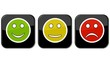 Gut, neutral oder schlecht - Feedback Button