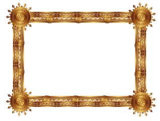 frame with an ornament in the old Russian style