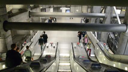 Escalator inside London Underground
