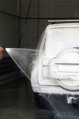 car at the car wash