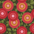 Traditional flowers seamless pattern