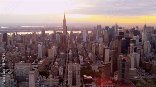 Aerial view Manhattan and Empire State Building, New York