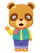 illustration of Cartoon bear Vector