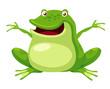 illustration of Happy green frog vector