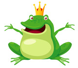 illustration of Happy frog prince vector