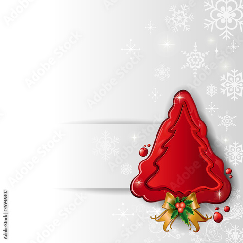 Christmas tree wax white background