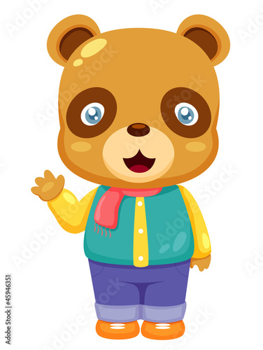 illustration of Cartoon bear Vector