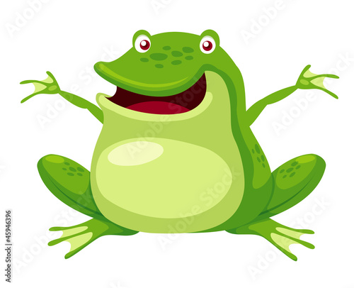 illustration of Happy green frog vector