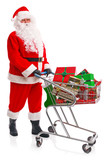Santa Claus doing his Christmas shopping