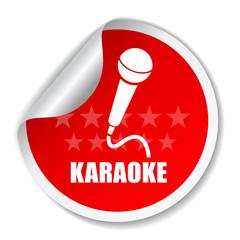 Vector karaoke label