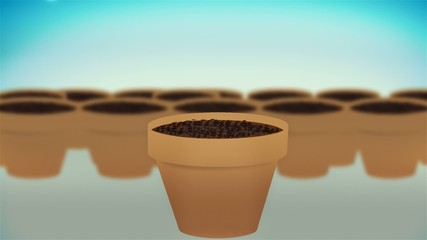 A cash plants growing, concept animation