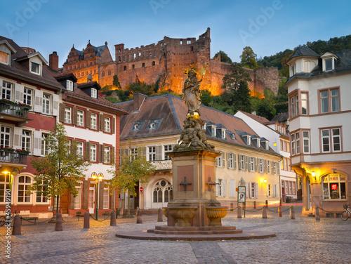 Leinwanddruck Bild Heidelberg Kornmarkt